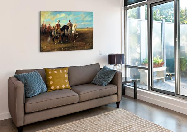 ARAB HORSEMEN ADOLF SCHREYER  Canvas Print