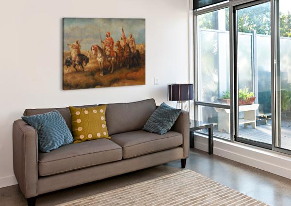 BEDOUINS ON HORSEBACK ADOLF SCHREYER  Canvas Print
