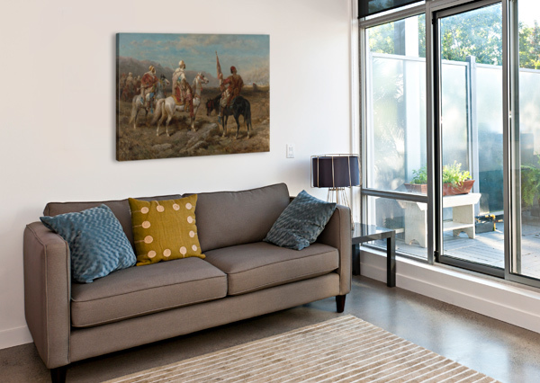ARAB CARAVAN PATROL ADOLF SCHREYER  Canvas Print