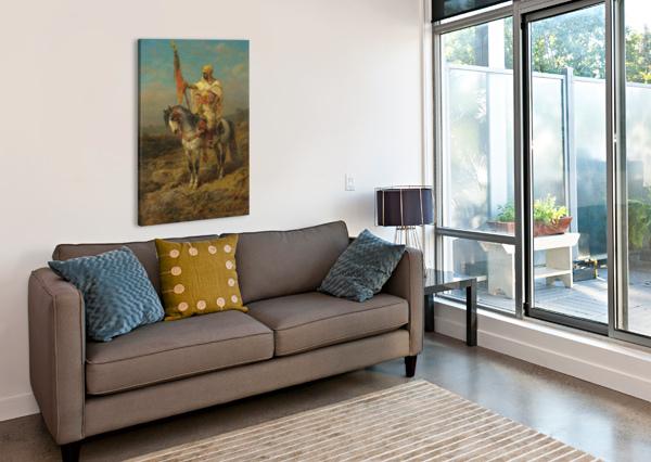 ARAB RIDER ADOLF SCHREYER  Canvas Print
