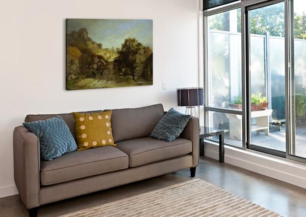 WALACHISCHE LANDSCAPE ADOLF SCHREYER  Canvas Print