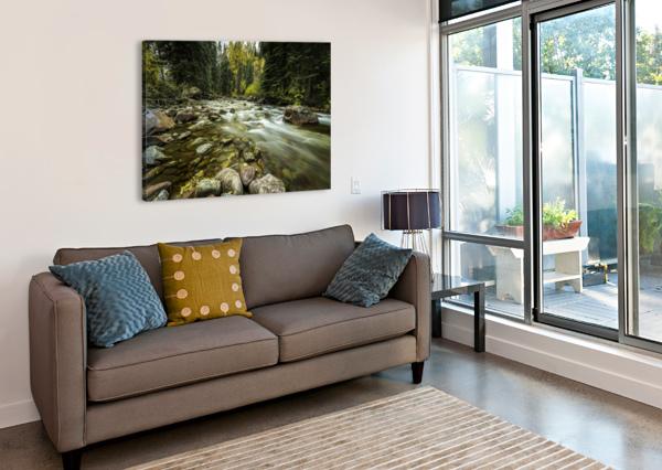 ROCKY MOUNTAIN STREAM SEBASTIAN DIETL  Canvas Print