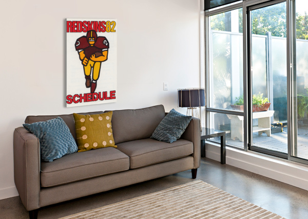 1982 WASHINGTON REDSKINS NFL FOOTBALL SCHEDULE ART POSTER ROW ONE BRAND ROW ONE BRAND  Canvas Print
