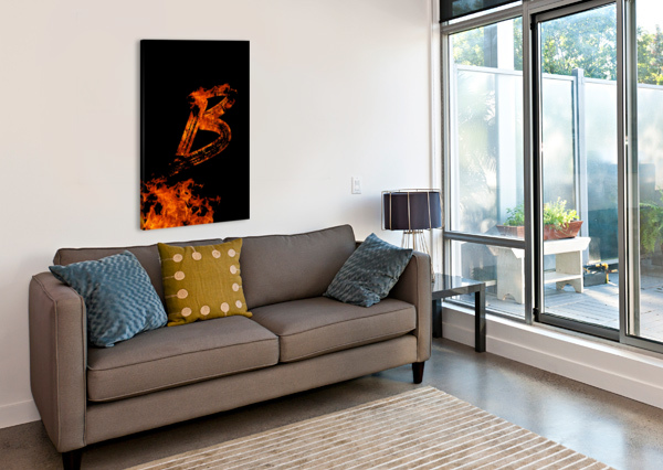 BURNING ON FIRE LETTER B ARTISTIC PARADIGMS  Canvas Print