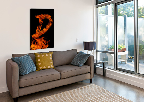 BURNING ON FIRE LETTER D ARTISTIC PARADIGMS  Canvas Print