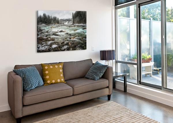RIVER IN WINTER CARMEL STUDIOS  Canvas Print
