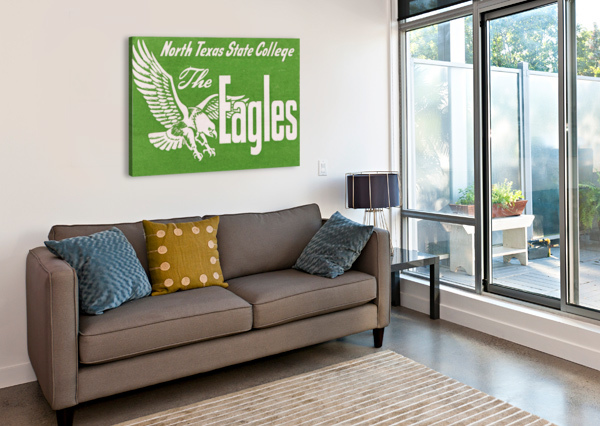 NORTH TEXAS STATE COLLEGE UNT EAGLES VINTAGE POSTER COLLEGE ART COLLECTION ROW ONE BRAND  Canvas Print