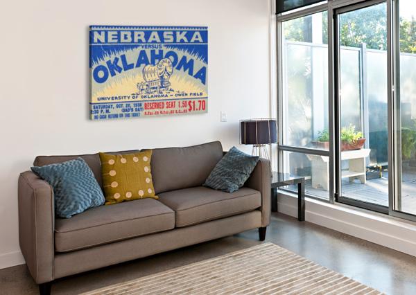 OKLAHOMA FOOTBALL METAL SIGN SOONERS TICKET STUB COLLECTION ROW 1 ROW ONE VINTAGE SPORTS ART BRAND ROW ONE BRAND  Canvas Print