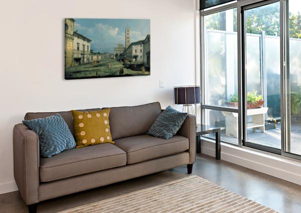 THE PIAZZA SAN MARTINO AND THE CATHEDRAL BERNARDO BELLOTTO  Canvas Print
