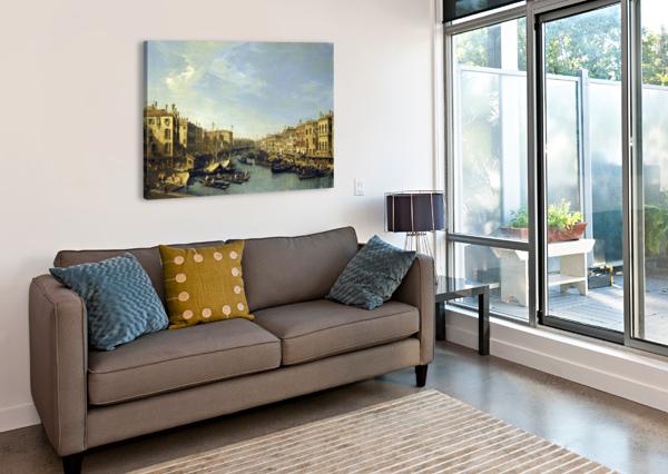 VENICE - THE GRAND CANAL BERNARDO BELLOTTO  Canvas Print