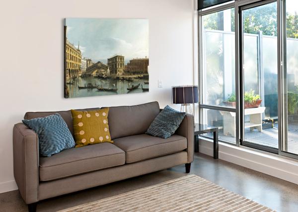 VENICE. VIEW OF THE GRAND CANAL WITH THE RIALTO BRIDGE, SEEN FROM THE NORTH BERNARDO BELLOTTO  Canvas Print