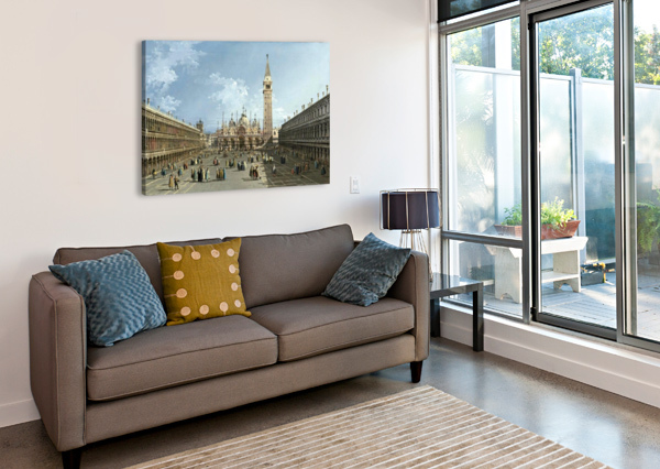 PIAZZA SAN MARCO BERNARDO BELLOTTO  Canvas Print
