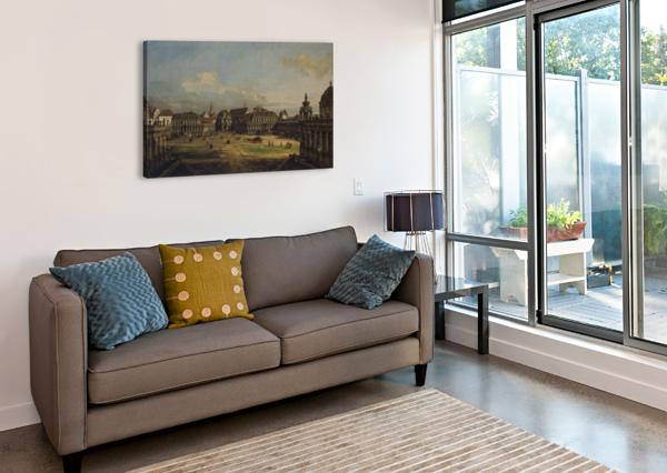 ZWINGER IN DRESDEN BERNARDO BELLOTTO  Canvas Print