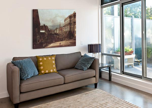 VIEW OF VIENNA, FLOUR MARKET OF SOUTHWEST SEEN FROM NORTHEAST BERNARDO BELLOTTO  Canvas Print