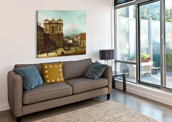 PROCESSION IN DRESDEN BERNARDO BELLOTTO  Canvas Print