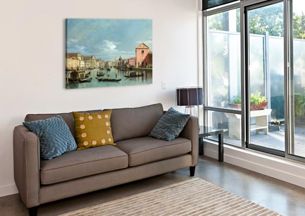 THE GRAND CANAL FACING SANTA CROCE BERNARDO BELLOTTO  Canvas Print