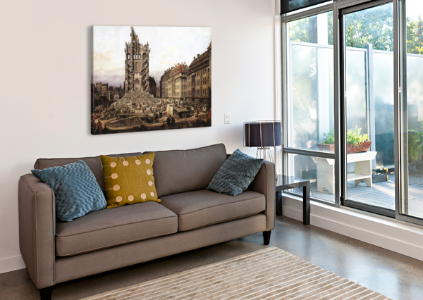 CITY RUINS BERNARDO BELLOTTO  Canvas Print