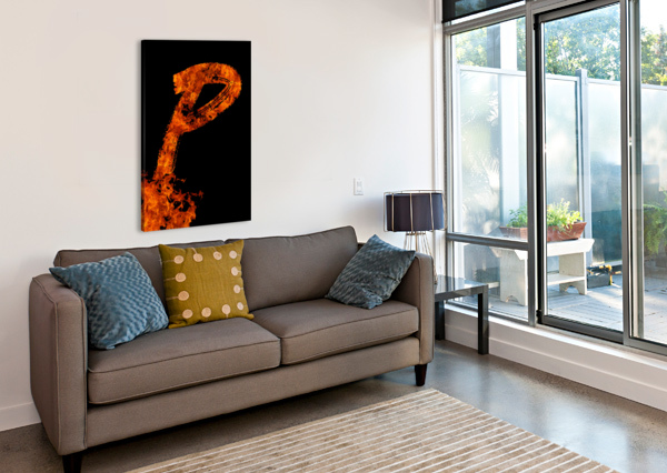 BURNING ON FIRE LETTER P ARTISTIC PARADIGMS  Canvas Print