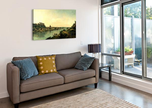 ALONG THE RIVER BERNARDO BELLOTTO  Canvas Print