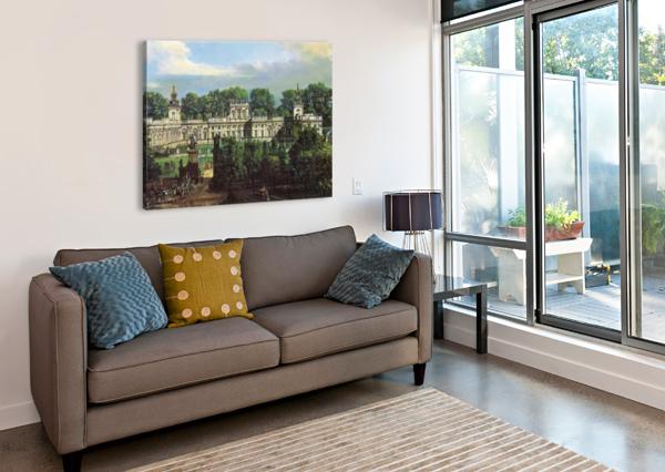 VIEW OF PALACE IN WARSZAWA BERNARDO BELLOTTO  Canvas Print