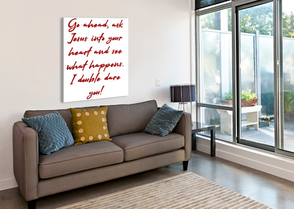 I DOUBLE DARE YOU DEPACE-  Canvas Print