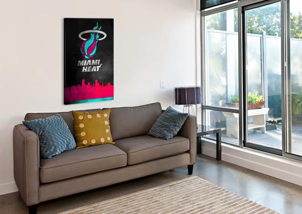 MIAMI HEAT VICE 2 ABCONCEPTS  Canvas Print