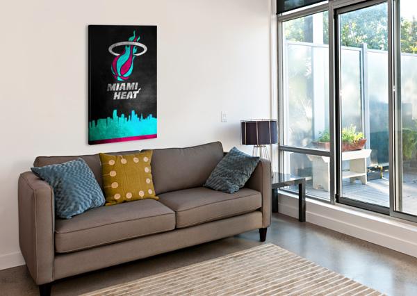 MIAMI HEAT VICE ABCONCEPTS  Canvas Print