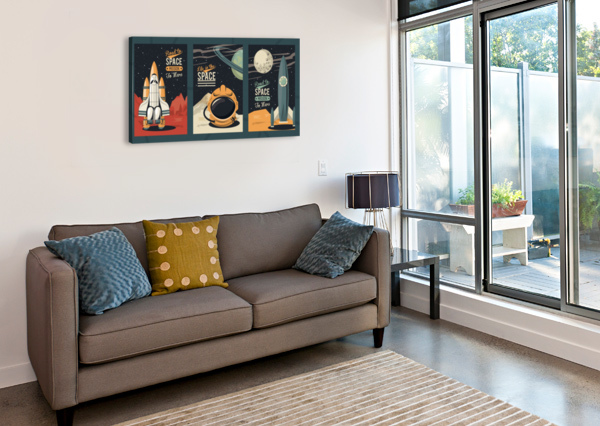 LIFE SPACE POSTER WITH SET SCENES SHAMUDY  Canvas Print