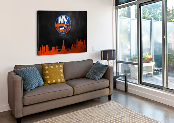 NEW JERSEY ISLANDERS ABCONCEPTS  Canvas Print