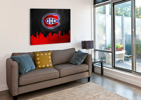 MONTREAL CANADIENS ABCONCEPTS  Canvas Print
