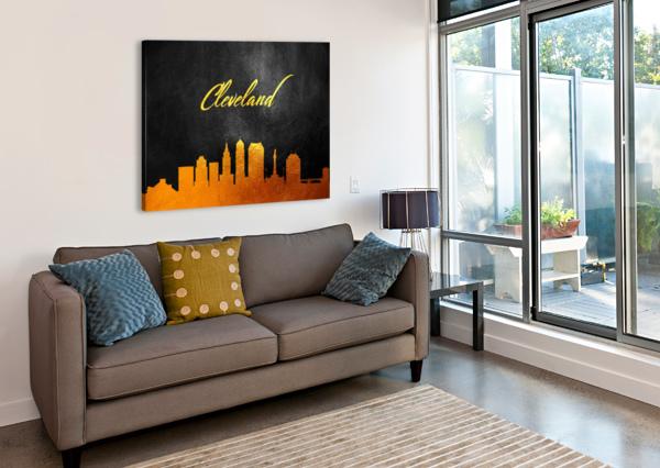 CLEVELAND OHIO SKYLINE WALL ART ABCONCEPTS  Canvas Print