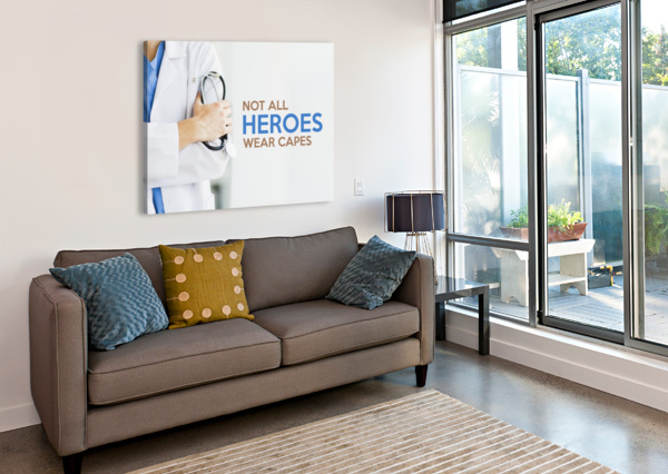 NOT ALL HEROES WEAR CAPES ABCONCEPTS  Canvas Print