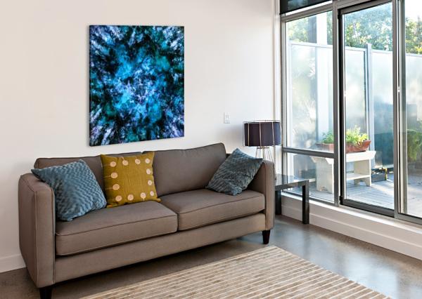 BLUE BURST KEITH MILLS  Impression sur toile