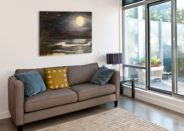 MOONLIT SEASCAPE JACQUELINE SLETER  Canvas Print