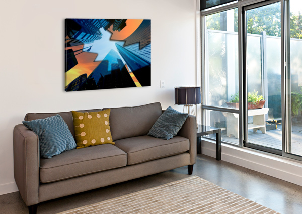 LONDON SKYSCRAPER LIGHTING CONTRAST_1588277165.5591 SHAMUDY  Canvas Print