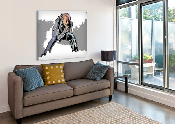 CHESTER CHARLES BENNINGTON ARTDRAGON  Canvas Print