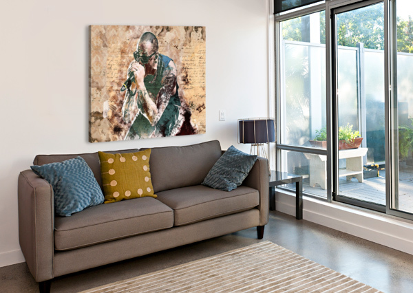 CHESTER CHARLES BENNINGTON ARTDRAGON  Canvas Print