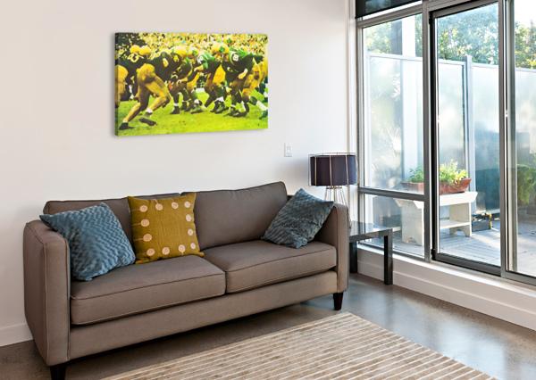 BEST NOTRE DAME FOOTBALL ART ROW ONE BRAND  Canvas Print