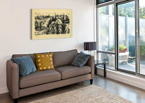 BNC1967-029 BARUCH NACHSHON  Impression sur toile
