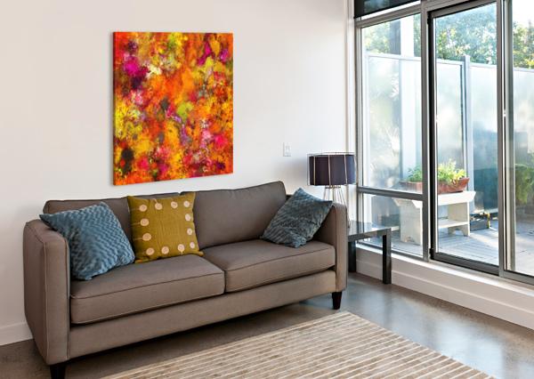 ORANGE POP KEITH MILLS  Canvas Print