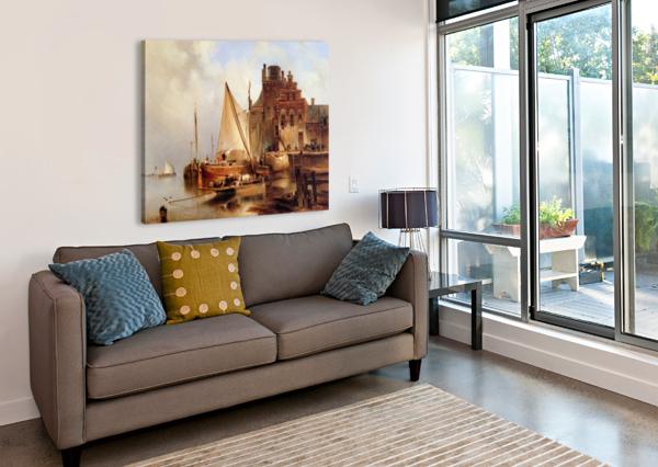 HOVE VAN H - THE FERRY - SUN BARTHOLOMEUS JOHANNES VAN HOVE  Canvas Print