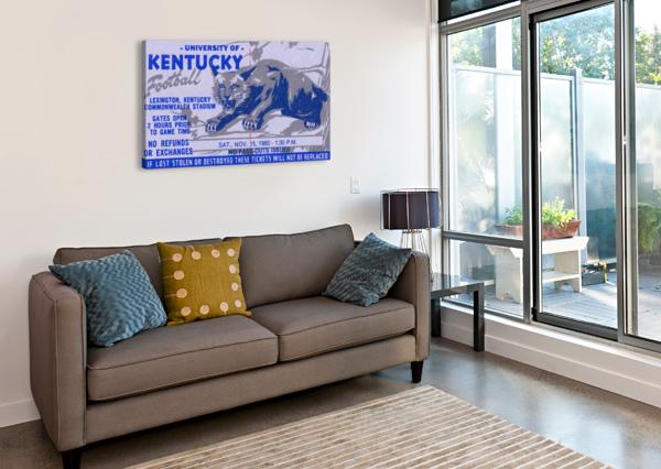 UNIVERSITY KENTUCKY WILDCATS FOOTBALL TICKET STUB WALL ART ROW ONE BRAND  Canvas Print