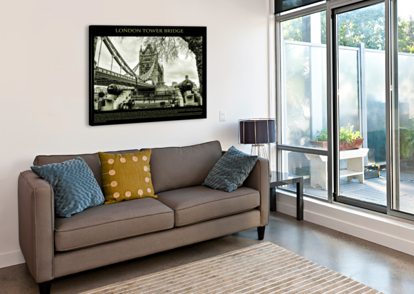 VINTAGE LONDON TOWER BRIDGE BENTIVOGLIO PHOTOGRAPHY  Canvas Print