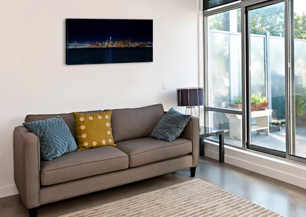 SAN FRANCISCO CITY SKYLINE PANORAMA DAVID YOON  Canvas Print