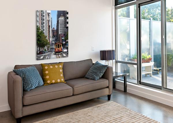 SAN FRANCISCO CITY SCENE DAVID YOON  Canvas Print