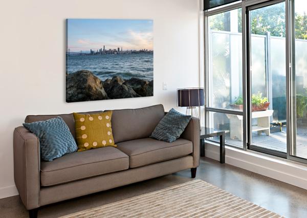 SAN FRANCISCO CITY SKYLINE AT SUNSET DAVID YOON  Canvas Print