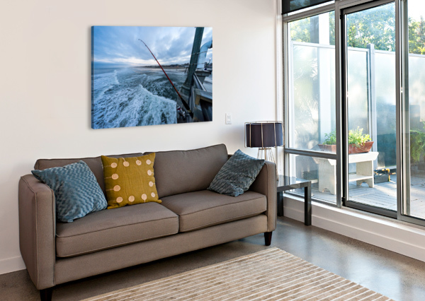 FISHING IN HUNTINGTON BEACH DAVID YOON  Canvas Print