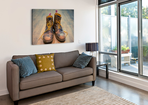 WORN OUT BOOTS DAVID YOON  Canvas Print