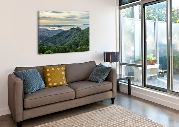 SAN FRANCISCO SKYLINE FROM BERKELEY  DAVID YOON  Canvas Print