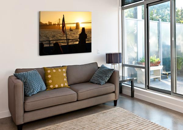 SUNSET IN THE BAY DAVID YOON  Canvas Print